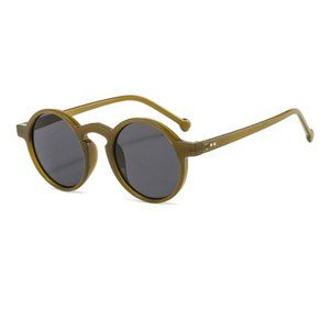 Classic Hip Hop Vintage Style Shades Unisex Round GREEN